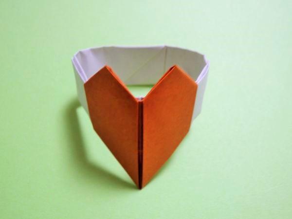 簡単 折り紙 ハートの指輪 折り紙 : xn--o9ja9dn55ayerin411bcd3afbgz3gd4y.jp